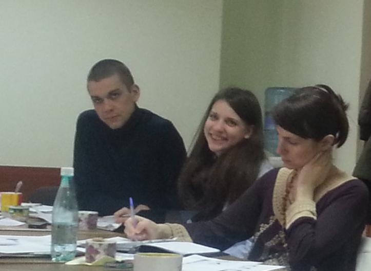 Антон и Арина на семинаре