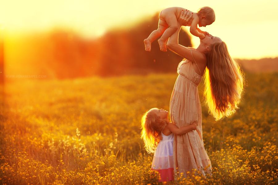 женщина с детками